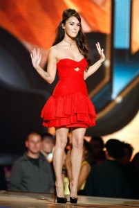 Megan Fox backstage